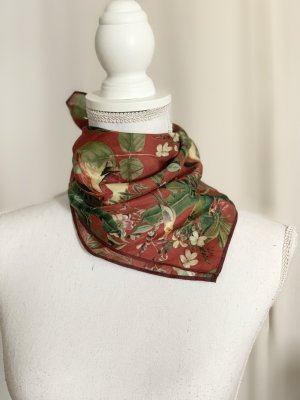 Twist & Tango Neckerchief carmine-grass green silk