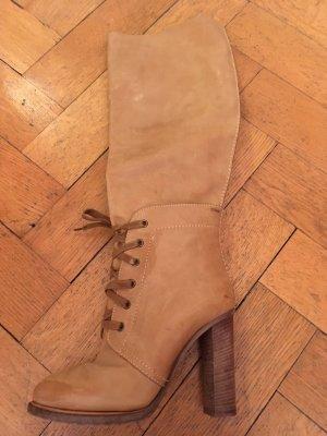Chloé Bottes à talon marron clair-chameau cuir
