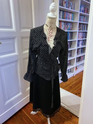 H&M Blusa cruzada blanco-negro
