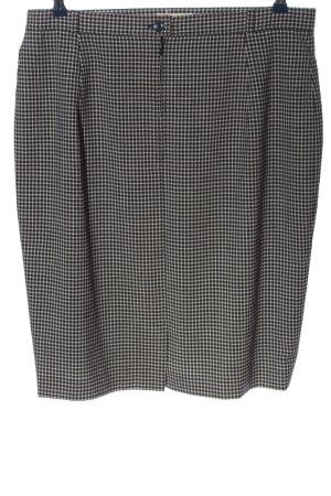 Hammer High Waist Skirt black-white allover print business style