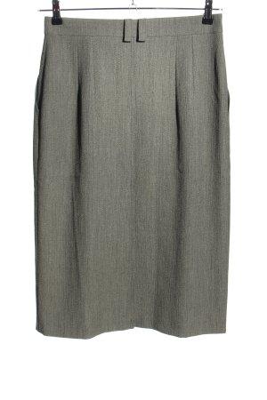 Hammer High Waist Skirt light grey flecked business style