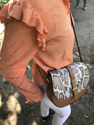 Hammer Ledertasche Tasche Umhängetasche Leder edel braunton neu