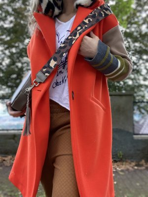 Hammer Mantel Herbstmantel Jacke Jackett Orange Brown XS 34 36