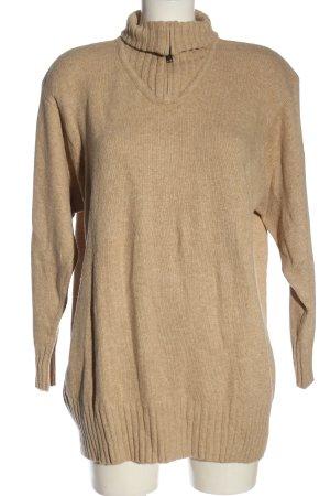 Hammer Turtleneck Sweater nude flecked casual look