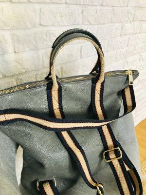 Hammer Rucksack Lederrucksack Handtasche Tasche Leder grau neu