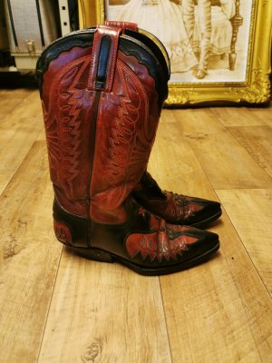 Sendra Western Boots black-bordeaux leather