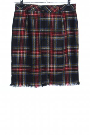 Hammer Knitted Skirt check pattern casual look