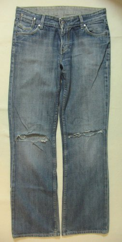 "Hammer Vintage Hüft-JEANS von MUSTANG ""Girls Oregon""..used/destroyed..Größe W27/L32..DE 36"