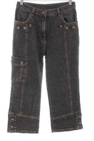 Hammerschmid Jeans a 3/4 grigio chiaro stile casual