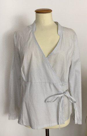 Hammerschmid Blusa kimono bianco-blu acciaio