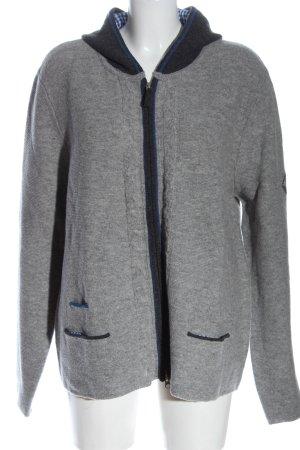Hammerschmid Cardigan grigio chiaro-nero puntinato stile casual