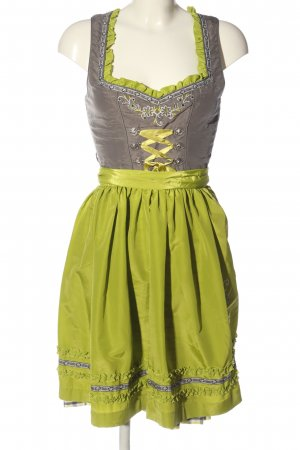 Hammerschmid Dirndl green-light grey check pattern elegant