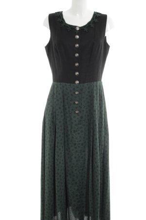 Hammerschmid Dirndl schwarz-grün grafisches Muster Casual-Look