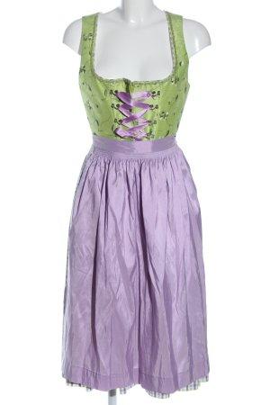 Hammerschmid Vestido Dirndl verde-lila estampado floral elegante