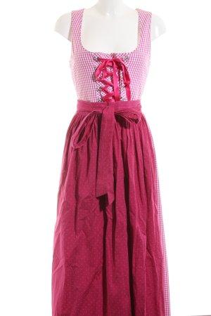 Hammerschmid Dirndl weiß-pink Karomuster klassischer Stil