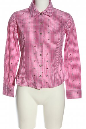Hammerschmid Camicia blusa rosa stampa integrale stile casual
