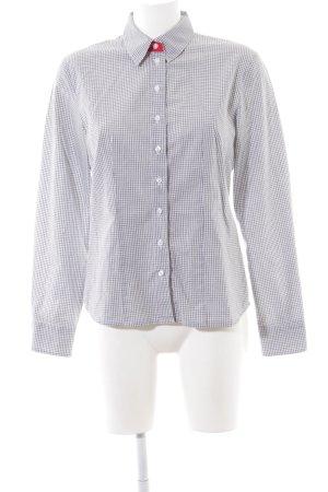 Hammerschmid Camicia a maniche lunghe grigio chiaro-bianco motivo a quadri