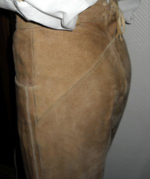 Hammerschmid Leather Trousers sand brown-brown leather