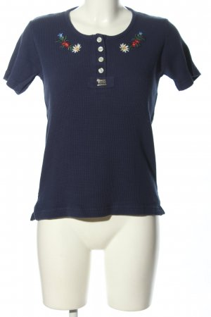 Hammerschmid T-Shirt blue flower pattern casual look
