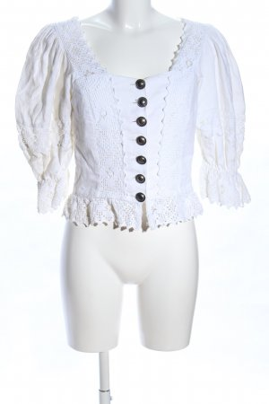 Hammerschmid Blusa tradizionale bianco elegante