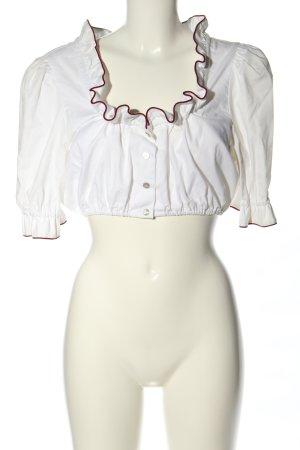 Hammerschmid Blusa tradizionale bianco stile classico