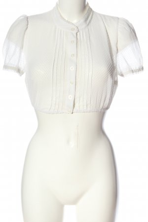 Hammerschmid Folkloristische hemd wit elegant