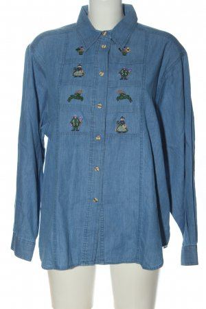 Hammerschmid Camicia tradizionale blu stile classico