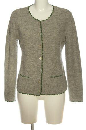 Hammerschmid Maglione tradizionale grigio chiaro-verde puntinato stile casual
