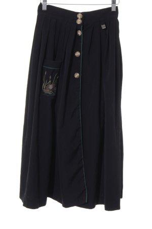 Hammerschmid Folkloristische rok zwart vintage uitstraling