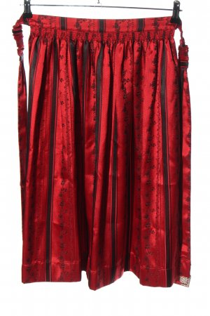 Hammerschmid Traditional Apron red-black allover print wet-look