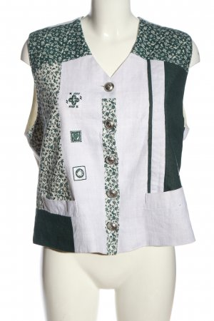 Hammerschmid Traditional Vest light grey-green flower pattern classic style