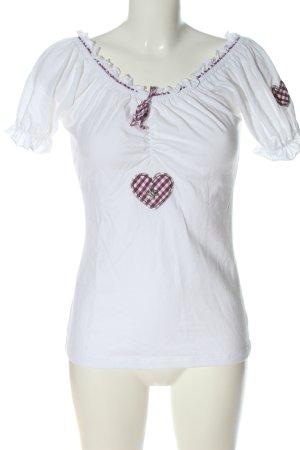 Hammerschmid Boatneck Shirt white-brown casual look