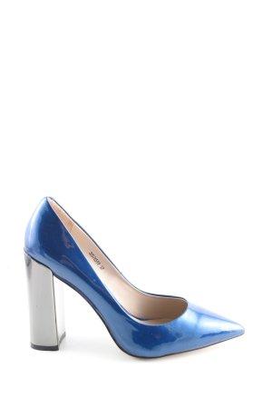 Hammerstein Hoge hakken blauw-zilver extravagante stijl