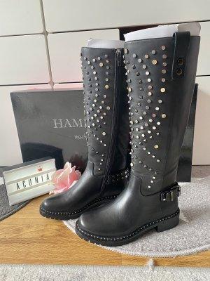 Hammerstein Lederstiefel mit Nieten schwarz Größe 36