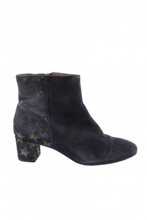 Hammerstein Zipper Booties blue-silver-colored themed print casual look