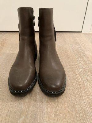 Hammerstein Zipper Booties grey brown-beige