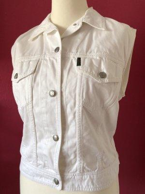 Katharine Hamnett Gilet en jean blanc coton