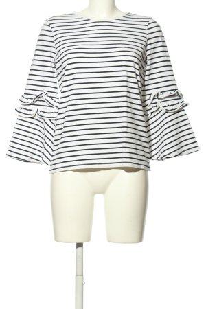 hampton republic Longsleeve white-black striped pattern casual look