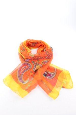 Han meier Halsdoek licht Oranje-sleutelbloem abstract patroon casual uitstraling