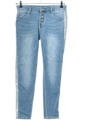 Hand Work Denim Slim Jeans