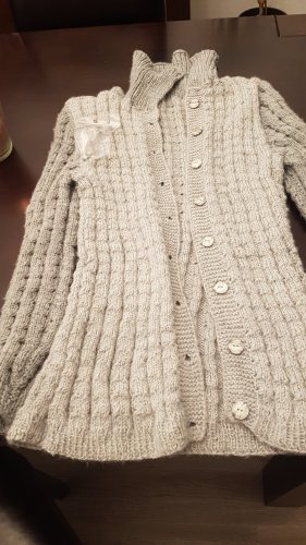 Coarse Knitted Jacket light grey