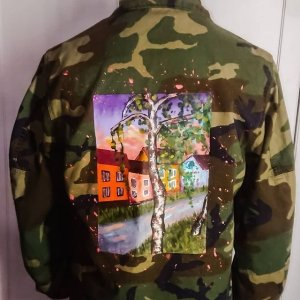 Military Jacket multicolored cotton