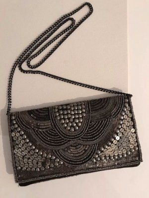 Atelier Clutch black-silver-colored