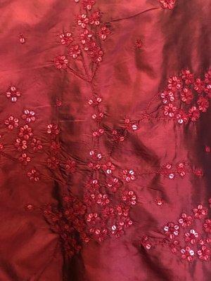 Blunauta Oversized Jacket dark red-carmine silk