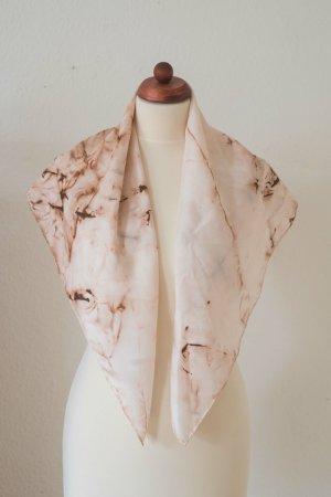 Handarbeit Foulard en soie marron clair-brun