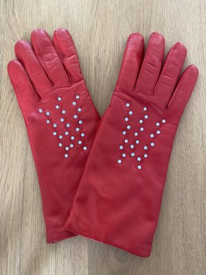 Leather Gloves red
