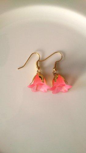 Pendientes colgante color oro-rosa