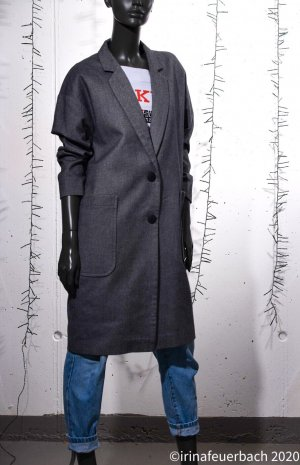 Handgefertigter Blazer Mantel Oversized Relaxed Cut