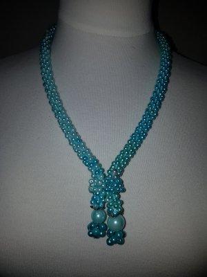 Collana argento-turchese