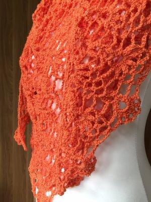 Handmade Chusta na ramiona pomarańczowy-pomarańczowy neonowy